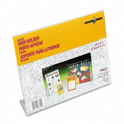 Deflect-O Corporation Inclined L-Frame Base Desktop Sign Holder, Plastic, 11 x 8-1/2