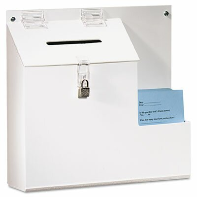 Deflect-O Corporation Plastic Suggestion Box with Locking Top