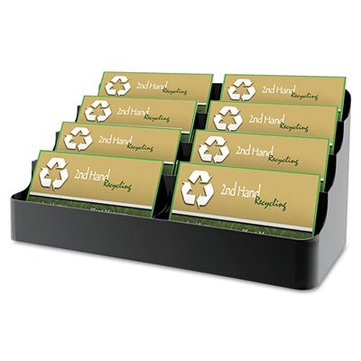 Deflect-O Corporation Recycled Business Card Holder, Holds 450, Eight-Pocket