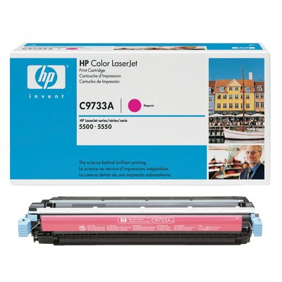 HEWLETT PACKARD SUPPLIES C9733A OEM Toner Cartridge, 12000 Page Yield, Magenta