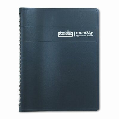 House of Doolittle Ruled Monthly Planner with Expense Log, December-January, 6-7/8 x 8-3/4, Black, 2013