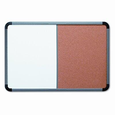 Iceberg Enterprises Combo Dry Erase/Fabric Wall Mounted Combination Board, 3' x 4'