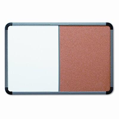Iceberg Enterprises Combo Dry Erase/Fabric Wall Mounted Combination Board, 4' x 6'