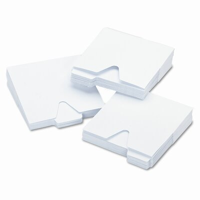 Ideastream Products Vaultz CD File Folders with 1/3 Cut Tab and Thumb Notch, White, 100 per Pack