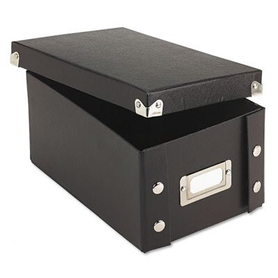 Ideastream Products Snap-N-Store Snap 'N Store Collapsible Index Card File Box Holds 1,100 4 X 6 Cards
