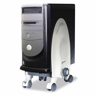 """Kantek Deluxe 18"""" H x 12"""" W Desk Mobile CPU Stand"""