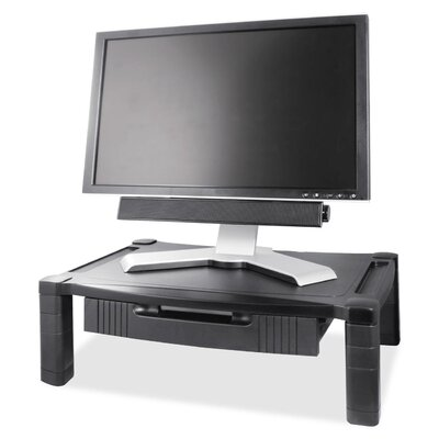 Height Adjustable Monitor Stand With Drawer By Kantek