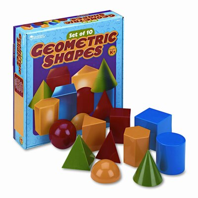 Learning Resources® 10 Piece Large Geometric Shapes  Set