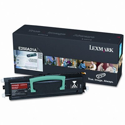 Lexmark International E250A21A Toner Cartridge, 3500 Page-Yield