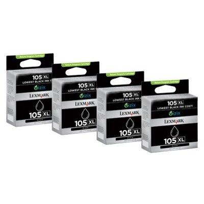 Lexmark International 14N0843 105Xl High-Yield Ink Cartridge, 4/Pack