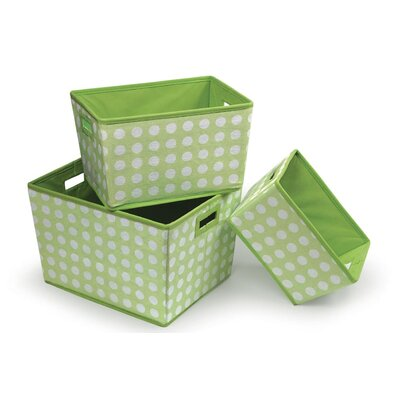 3 Piece Nesting Trapezoid Basket Set by Badger Basket