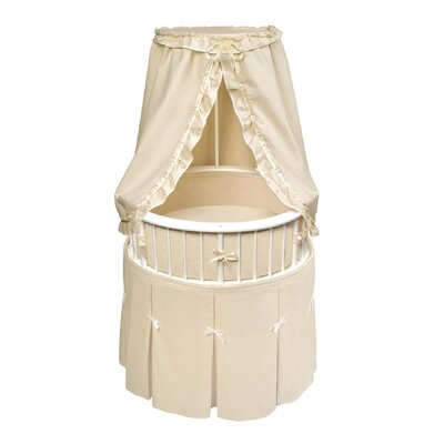 Badger Basket Elegance Bassinet with Waffle Bedding Badger Basket