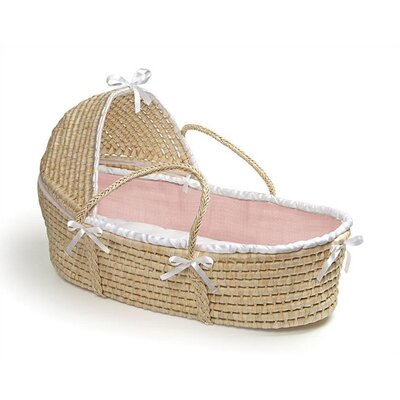 Hooded Moses Basket with Waffle Bedding by Badger Basket