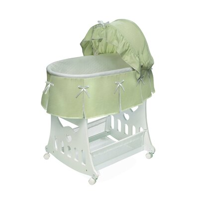 Badger Basket Waffle Pleated Bassinet with Toy Box Base Badger Basket