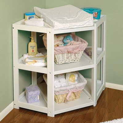 Badger Basket Diaper Corner Baby Changing Table 02206