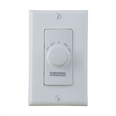 Four Speed Ceiling Fan Remote Wall Control in Almond by Craftmade