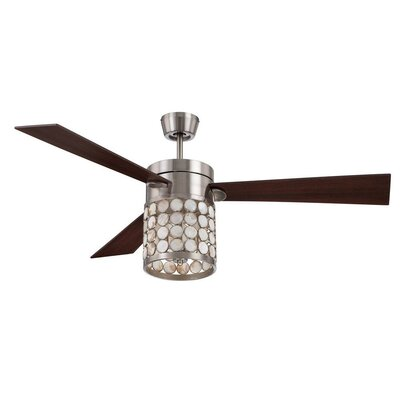 "54"" Kapiz 3 Blade Ceiling Fan and Remote Product Photo"