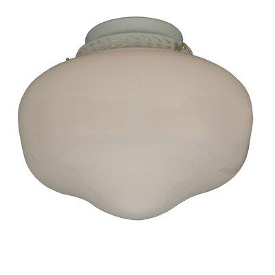 economy 1 light schoolhouse ceiling fan light kit wayfair. Black Bedroom Furniture Sets. Home Design Ideas