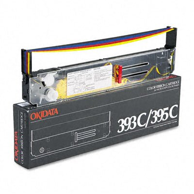 OKI 52103601/52103701/52103801 Printer Ribbon, Nylon, 1.3M Yield, Four-Color
