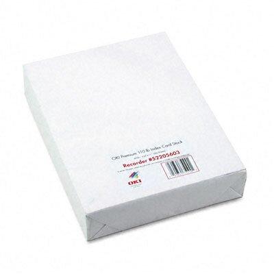 OKI Premium Card Stock, 250 Sheets/Box