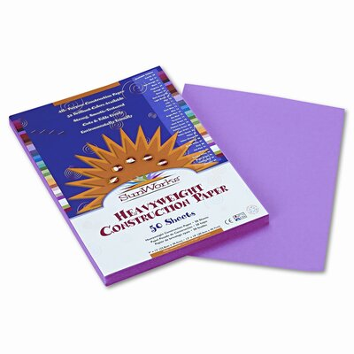 SunWorks® Construction Paper, 58 Lbs., 9 X 12, 50 Sheets/Pack