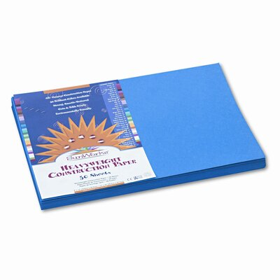 SunWorks® Construction Paper, 58 Lbs., 12 X 18, 50 Sheets