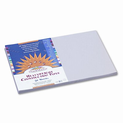 Pacon Corporation SunWorks Construction Paper, Heavyweight, 12 x 18, Gray, 50 Sheets