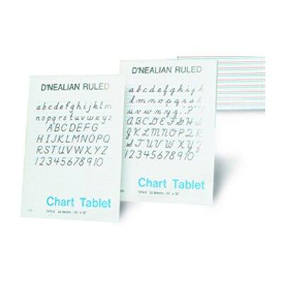Pacon Corporation D Nealian Chart Tablet Manuscript