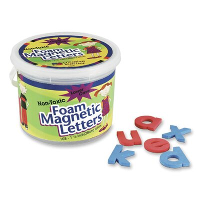 "Pacon Corporation Magnetic Alphabet Letters,Foam, Lower Case, 1-1/2"", 108 Ct."