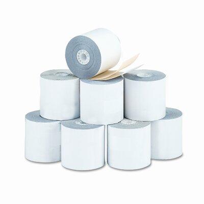 "PM Company 2-Ply Printer Roll for Verifone 420/460, 2-1/4""w, 70'l, White/Canary, 10/ctn"