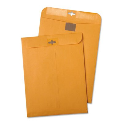 Quality Park Products Postage Saving Clasp Kraft Envelope, 6 X 9, 100/Box