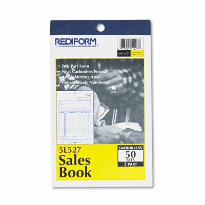 Rediform Office Products Sales Book, 4 1/4 X 6 3/8, 50 Sets/Book