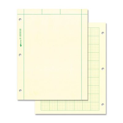 """Rediform Office Products Computation Pads, 5""""x5"""" Quad, Letter, 200 Sheets, Green"""