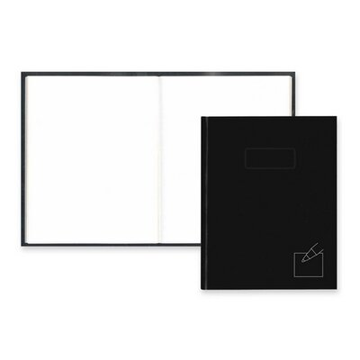 "Rediform Office Products Business Notebook, 192 Sheets, Col/Margin, 9-1/4""x7-1/4"", Black"