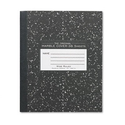 Roaring Spring Paper Products Marble Cover Composition Book, 8-1/2 X 7