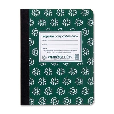Roaring Spring Paper Products Environotes Recycled Composition Book (80 Sheet)