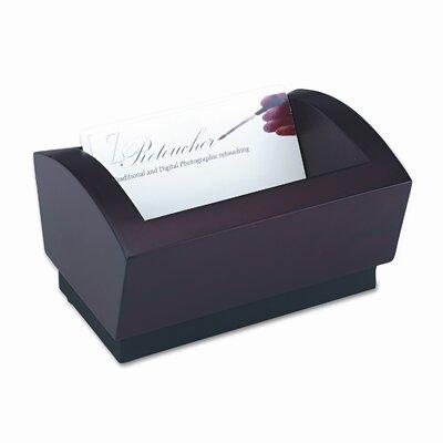 Rolodex Corporation Executive Woodline II Business Card Holder