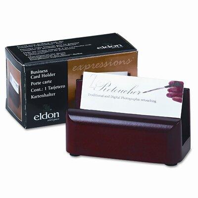 Rolodex Corporation Wood Tones Business Card Holder, Capacity 50 2-1/4 x 4 Cards, Mahogany