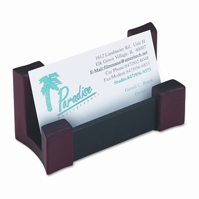 Rolodex Corporation Wood/Leather Business Card Holder