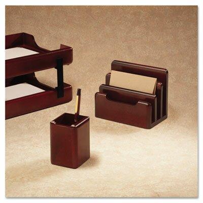 Rolodex Corporation Wood Tones Pencil Cup