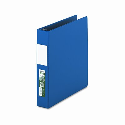 Antimicrobial Locking D-Ring Binder, 8-1/2 x 11, 1-1/2in Cap by SAMSILL CORPORATION