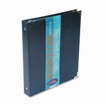 Samsill Corporation Vinyl Business Card Binder Holds