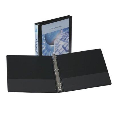 "Samsill Corporation 3-Ring Vue Binder, 1-1/2"" Capacity, 11""x8-1/2"", Black"