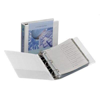 "Samsill Corporation 3-Ring Vue Binder, 1-1/2"" Capacity, 11""x8-1/2"", White"