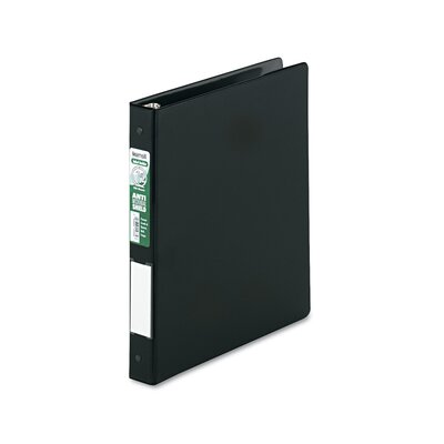 Antimicrobial Locking Round Ring Binder, 8-1/2 x 11, 1in Cap by SAMSILL CORPORATION