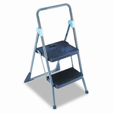 Cosco 2-Step Steel Commercial Folding Step Stool with 300 lb. Load Capacity