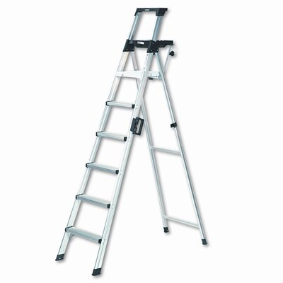 Cosco 8 ft Aluminum Lightweight Folding Step Ladder with 300 lb. Load Capacity