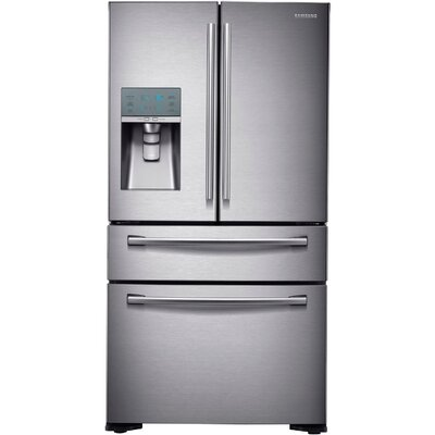 13 cu. ft. French Door Refrigerator in Stainless Steel with FlexZone™ Drawer Product Photo