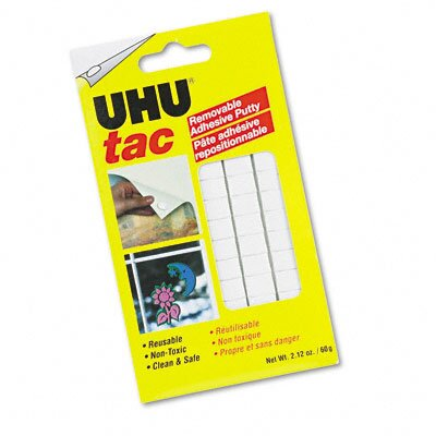 Saunders Manufacturing Tac Adhesive Putty Squares, Removable/Reusable, Nontoxic