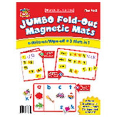 Scholastic Jumbo Fold-Out Magnetic Mats Set of 5 Flash Cards
